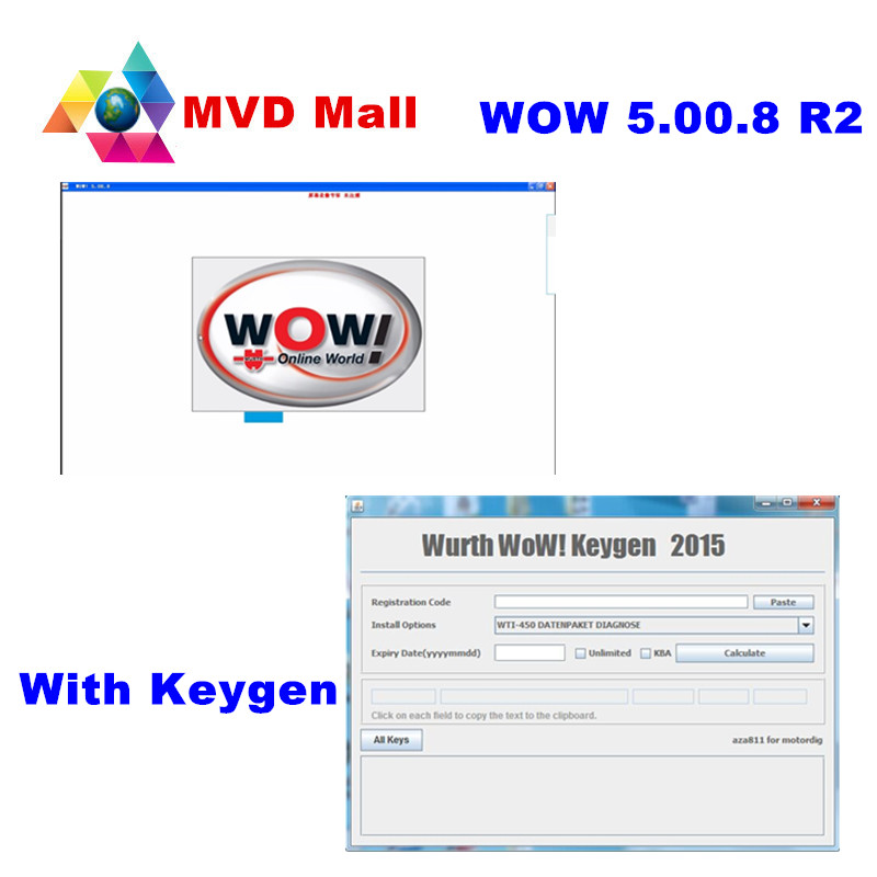 Prix pour Date Wurth WoW V5.00.8 R2 Avec Keygen + Installer Guide Vidéo + 10 Langues Pour Universel Essence et Diesel Voitures jusqu'à 2016 Année