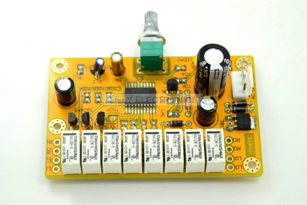 ALPS AC12V-18V YS HIFI 2-Channel Relay Volume Control Board Potentiometer balance version jv8 hifi remote control volume board kit 128 steps 2 channel 50k exponential constant input impedance relay