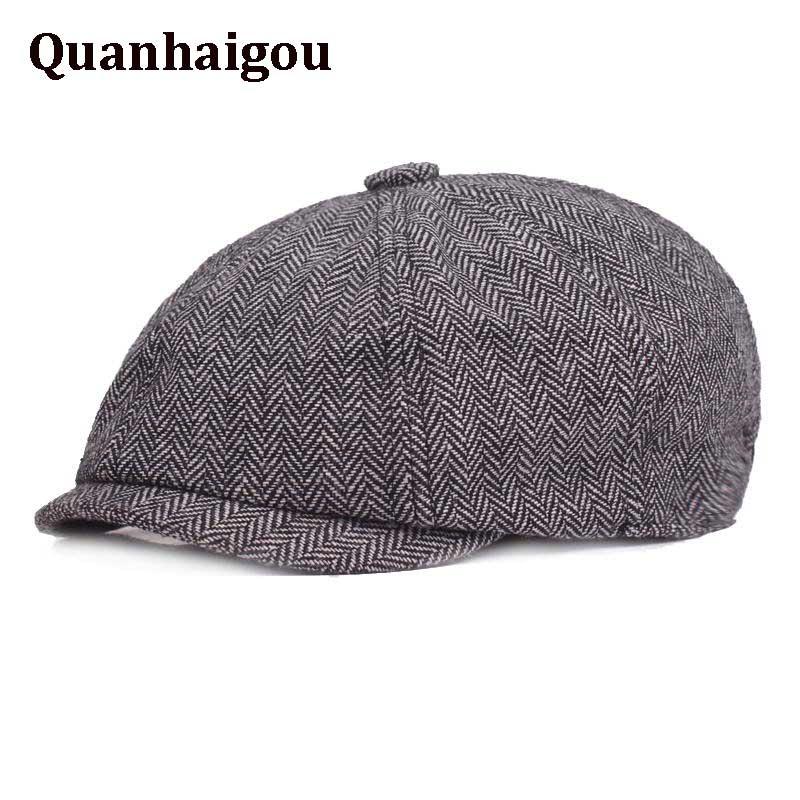 King Star Mens Cotton Flat Cap Newsboy Duckbill Ivy Cabbie Driving Hats