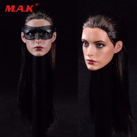 1/6 scale female girl young lady head carving model Batman Catwoman head sculpt for 12'' action figure body