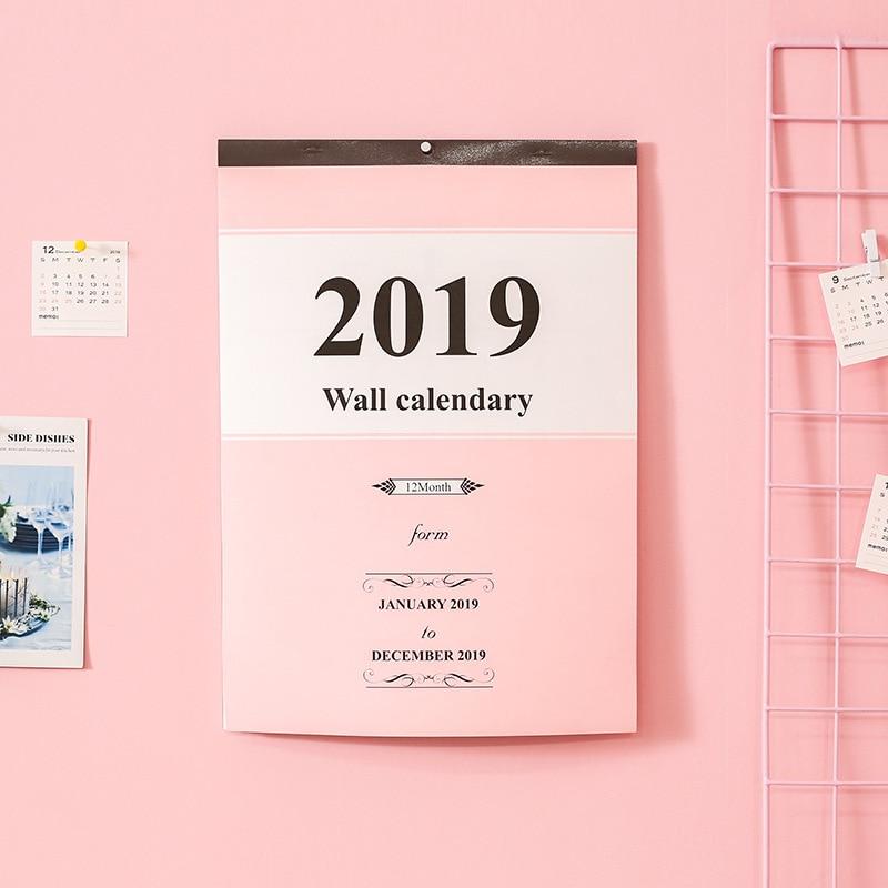 Grand Calendrier Mural 2019.Agenda Creatif Grand Calendrier Calendrier Mural 2019 Agenda