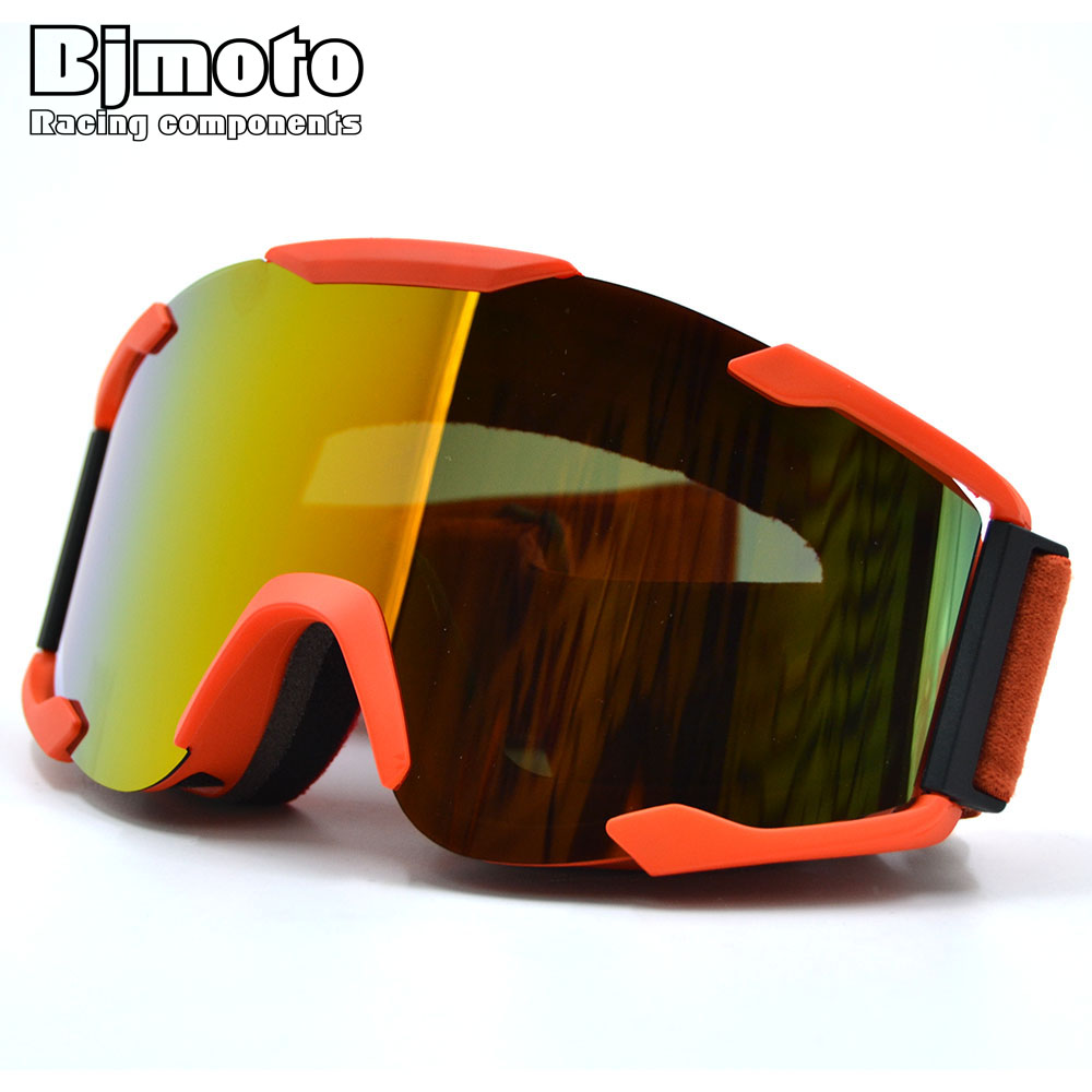 BJMOTO 2017 NEW Adult Flexible Goggle Sport Racing Off Road Motocross Goggles Glasses for Motorcycle Dirt Bike Bicycle