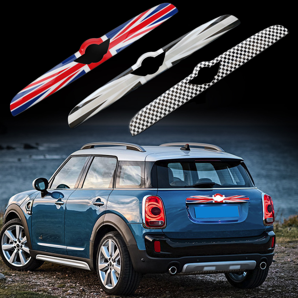 Union Jack ABS Rear Tail Trunk Lid Molding Trim Decoration Cover Trim For Mini Cooper F60 Countryman Car Styling Accessories car stainless steel rear trunk lid molding cover decoration trims for bmw x5 f15 2014 2015 car styling accessiores