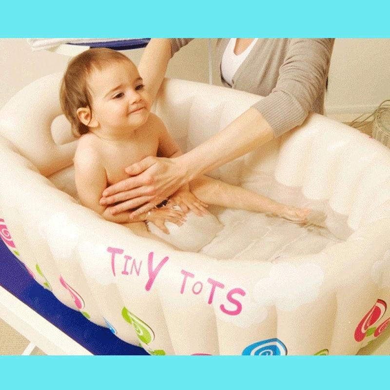 Baby Inflatable Bathtub Kids bath tool Home Use Thick And Safe bath ...