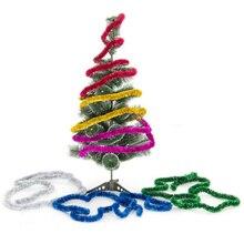 6 шт./упак. Цвет Лента Свадебная вечеринка украшения Рождественская елка деко вечерние праздничные вечерние мероприятия сцены украшения