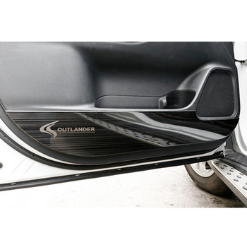 FOR MITSUBISHI outlander 2013-2018 stainless steel 4PCS decorative door anti-kick panel decorative car sticker accessories