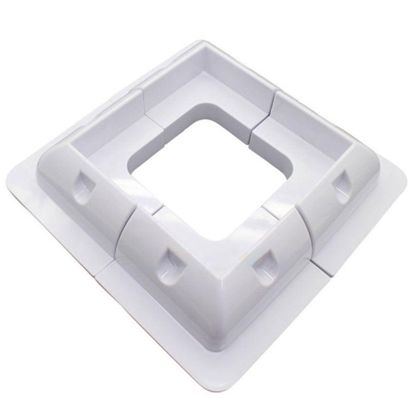 New 4Pcs ABS Edges Solar Panel Mounting Brackets White Corner Set Kit For Yacht/Solar Panel qyh