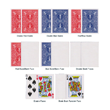 8pcs Magic Bicycle Special Gaff Cards Magic Tricks Red/Blue,