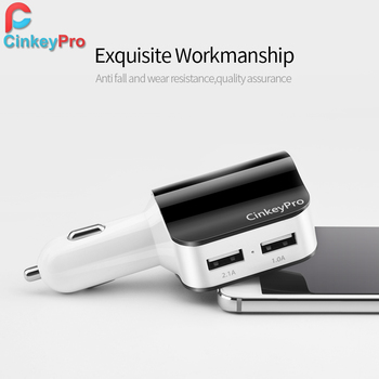 Car Charger Cigarette Lighter Adapter 2.1A 2 Port USB Car-Charger Mobile Phone Adapter Charging Type C for iPhone iPad CinkeyPro 3