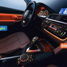 С подсветкой Led двойной цвет переменного тока/Радио отделка Модифицированная дверь Панель декоративный свет для BMW 3 серии F30 F31 2012