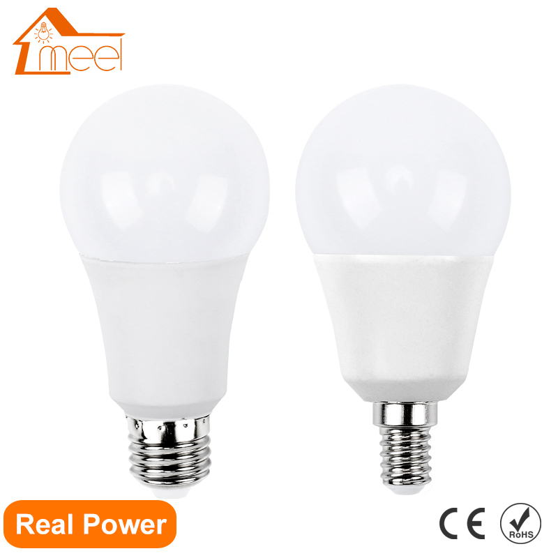 LED Lamp E27 E14 220V 240V Lampada Ampoule Bombilla Real Power 3W 5W 7W 9W 12W 15W LED Bulb Lamp Smart IC Energy Saving Light brightinwd epistar led s19 smd2835 linestra lampada led fluorescent tube 310mm 7w 220v 110v osram rohs led energy saving lamp