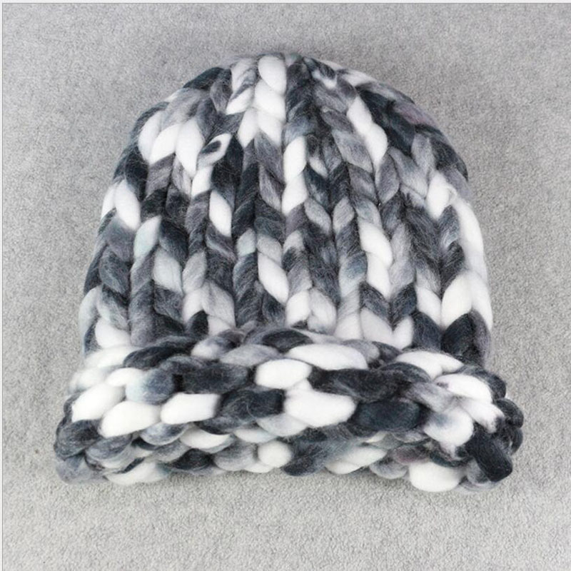 3bf8bf30343 Dropwow Ymsaid Warm Mixed color Hats Casual Female Autumn Winter ...