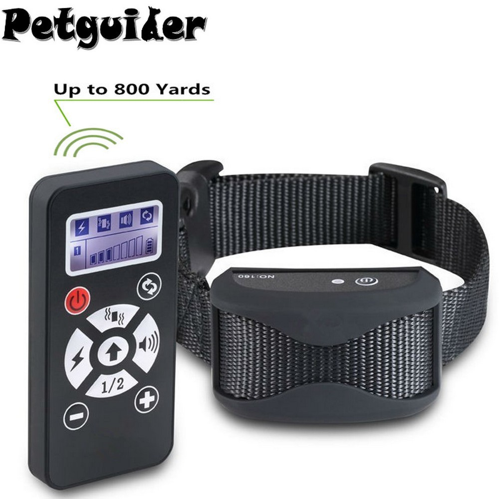 2 In 1 Pet Dog Training Collar Anti Bark Stop Collar 800 Remote Control Waterproof Rechargeable Automatic E Collar