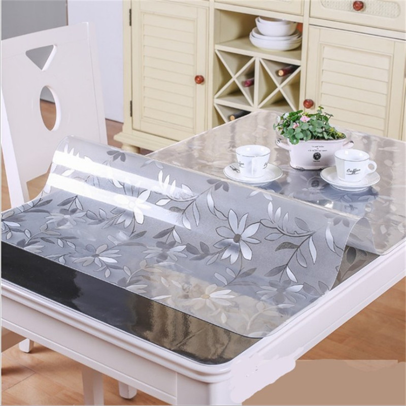 Soft Glass PVC Tablecloth Waterproof Anti Hot Table