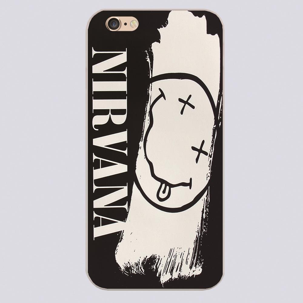 Nirvana Smiley Face Logo Cover case for iphone 4 4s 5 5s 5c 6 6s plus samsung galaxy S3 S4 mini S5 S6 Note 2 3 4 z2558