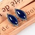 Корунд синего розовый серьги для женщин старинные серебро 925 сапфир-ювелирные изделия чешский из индии