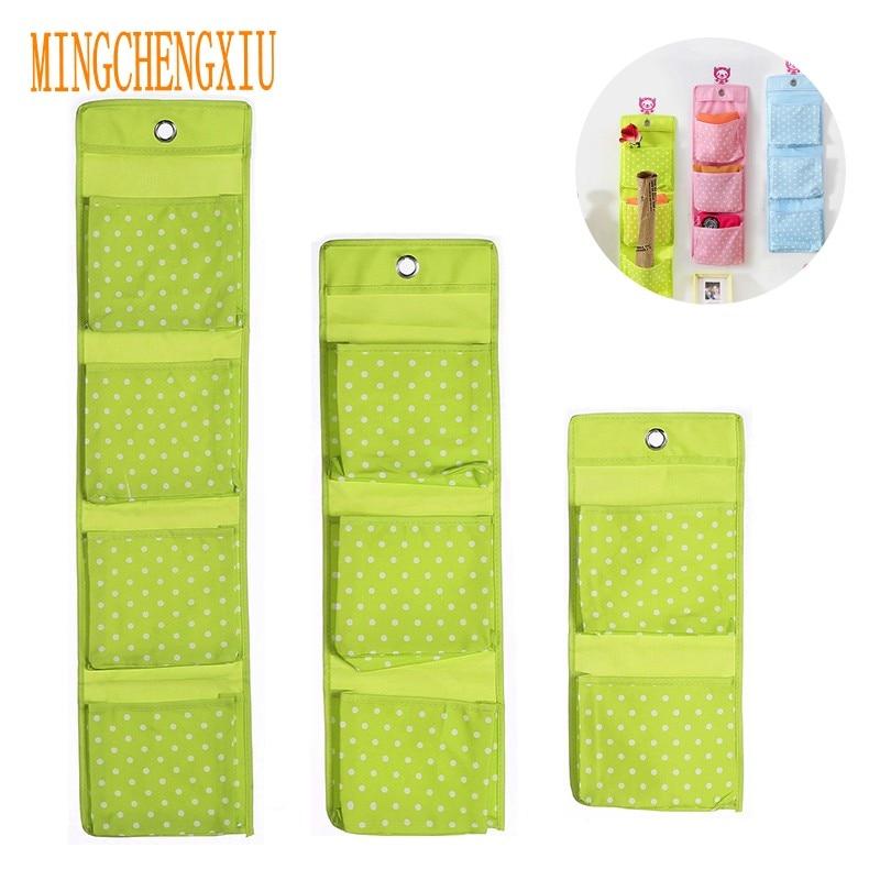 Oxford Cloth Pockets For Storage Socks Underwear Toy Shoe Glasses Keys Mail Door Hanging on The Wall Organizer Rating Locker Bag