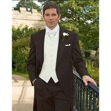 4bd79c28a2c4b Nueva oferta especial boda Trajes para hombres FRAC 3 unidades Trajes boda  chaleco para el pico solapa del novio (jacket + Panta.