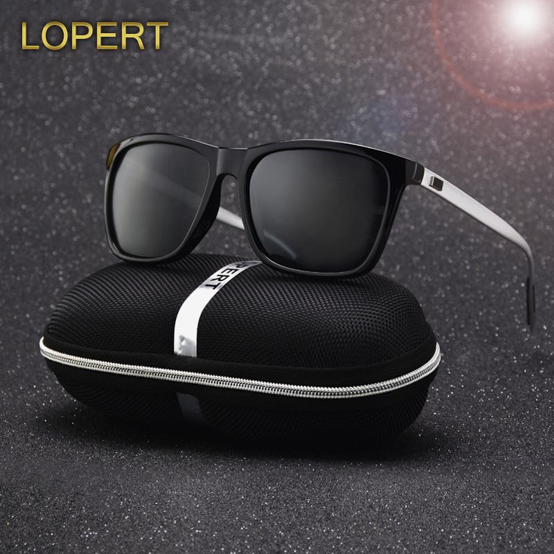 LOPERT Polarized AluminumTR90 font b Sunglasses b font Men Brand Designer Driving Glasses Fashion Women Vintage