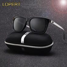 LOPERT Polarized AluminumTR90 Sunglasses Men Brand Designer Driving Glasses Fashion Women Vintage Sun Glasses For Men UV400