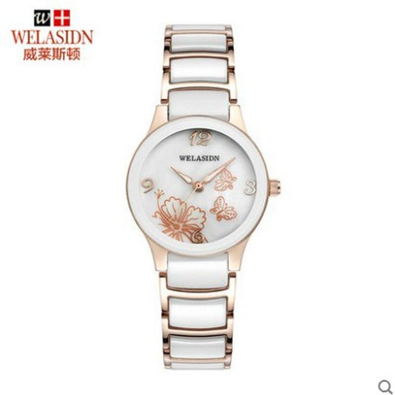 5d360cdc48233 Pânico compra do sexo feminino estudantes de moda relógio de quartzo de  cerâmica simples Femme relogio feminino Presente Da Menina Das Senhoras do  Negócio ...