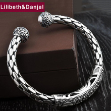 Adjustable Bracelet Bangle Jewelry 925-Sterling-Silver 100%Real Twist-Weaving Christmas-Gift
