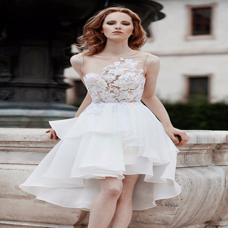 Popular Short White Evening Dress-Buy Cheap Short White Evening ...
