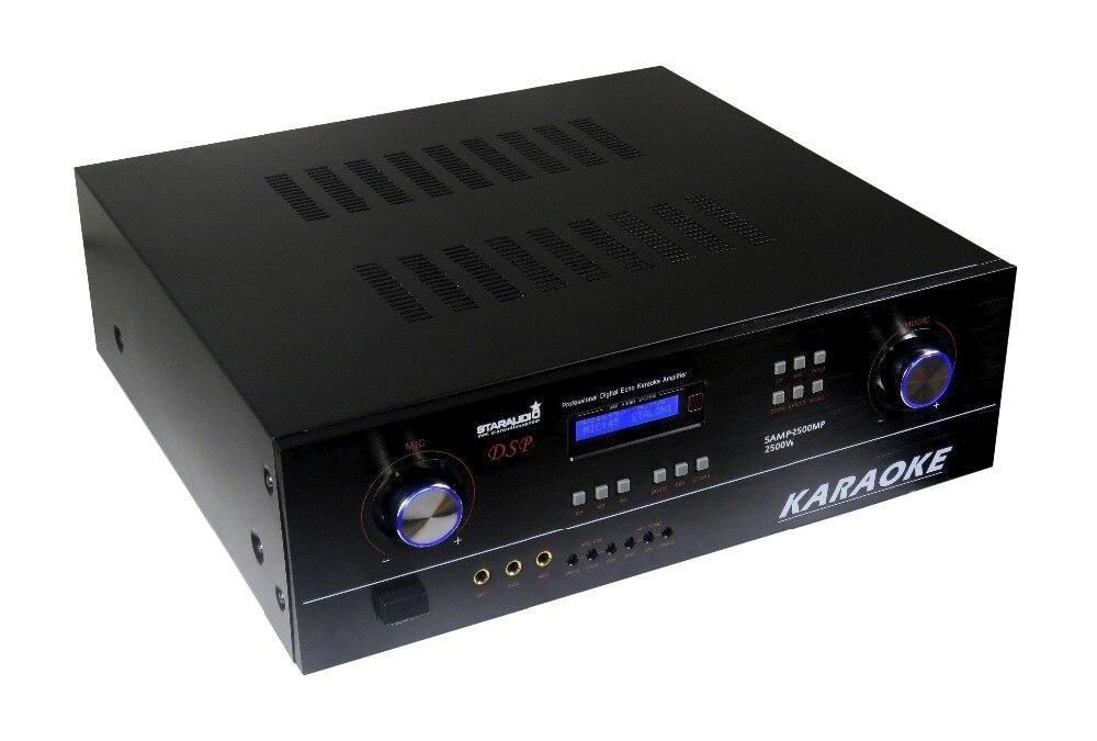 STSTARAUDIO Pro 2CH 2500 W 8 Ohm PA DJ Stade Karaoké KTV Club D'écho Numérique Stéréo Amplificateur SAMP-2500MP