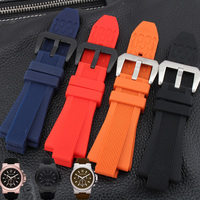 BRETA High Quality Waterproof Rubber Strap 29 13mm Black Brown Orange Diving Silicone Watchbands For MK8152