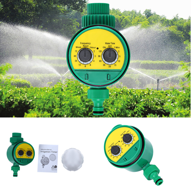 Automatic Intelligence Electronic Water Timer Rubber Gasket Design Digital  Outdoor Garden Irrigation Controller Watering System