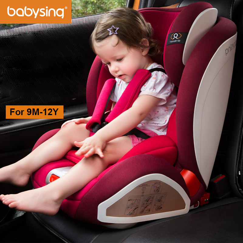 Babysing Baby Car Seat Adjustable Isofix Harnessed Booster for 9M - 12Y assento de carro S1 best selling korea natural jade heated cushion tourmaline health care germanium electric heating cushion physical therapy mat