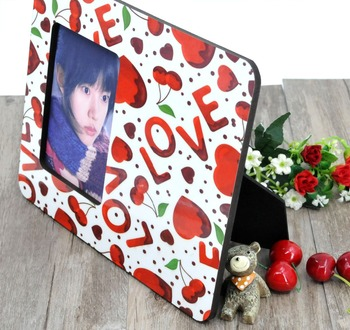 10 pcs/lot sublimation blank DIY Wooden photo frame for pictures MDF OEM frame photo gift painting print decorative