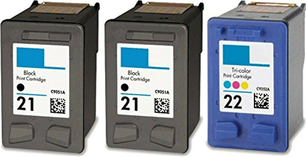 ФОТО 3pcs compatible for hp 21 22 ink Cartridge for hp 21xl 22xl for HP Deskjet F380 F2100 F2110 F2240 F2280 F2250 F370 Printer