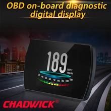 OBD Hud Head Up wyświetlacz cyfrowy wyświetlacz szybkościomierza samochodowego komputer pokładowy OBD2 prędkościomierz przednia szyba Projetor CHADWICK P12 5.8 TFT