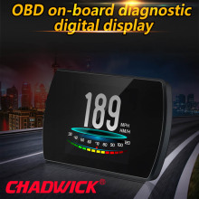 Obd hud head up display digital carro projetor de velocidade a bordo do computador obd2 velocímetro pára brisa projetor chadwick p12 5.8 tft
