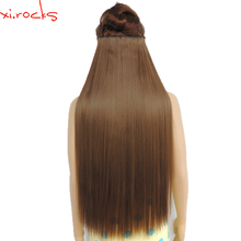 5piece/Lot X Synthetic Clip in Hair Extensions 28inch Length Straight Hairpiece 5 Clips Matte Fiber Spice Color 10