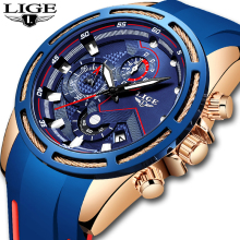 LIGE Men's Watches New Top Brand Luxury Men Watch Fashion Sports Quartz Watch Auto Date Clock Relogio Masculino Reloj Hombre+Box
