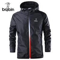 New Brand Fashion Spring Autumn Windbreaker Jacket Men Casual Sportswear Hooded Coats Male Windproof Jacket Zipper