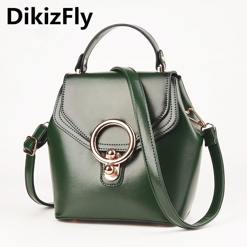 DikizFly Mini Moda mujer Bolsos de cuero de las mujeres bolso de marca bolsas de