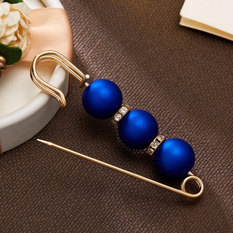 RINHOO Горячая 1 шт имитация жемчуга круг брошь PU Кнопка для женщин Циркон Модные броши красочные - Окраска металла: 7