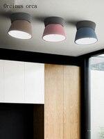 Pós-moderna criativa personalidade cor Escandinavo sala de jantar sala de estar lâmpada do teto CONDUZIU a lâmpada do teto de ferro frete grátis
