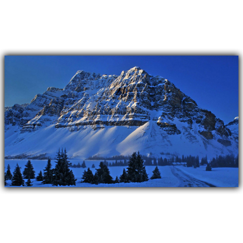 Modern Home Decoration Winter Nature, Mountain Scenery Silk Wallpaper Photo Poster 4 Size FJ072