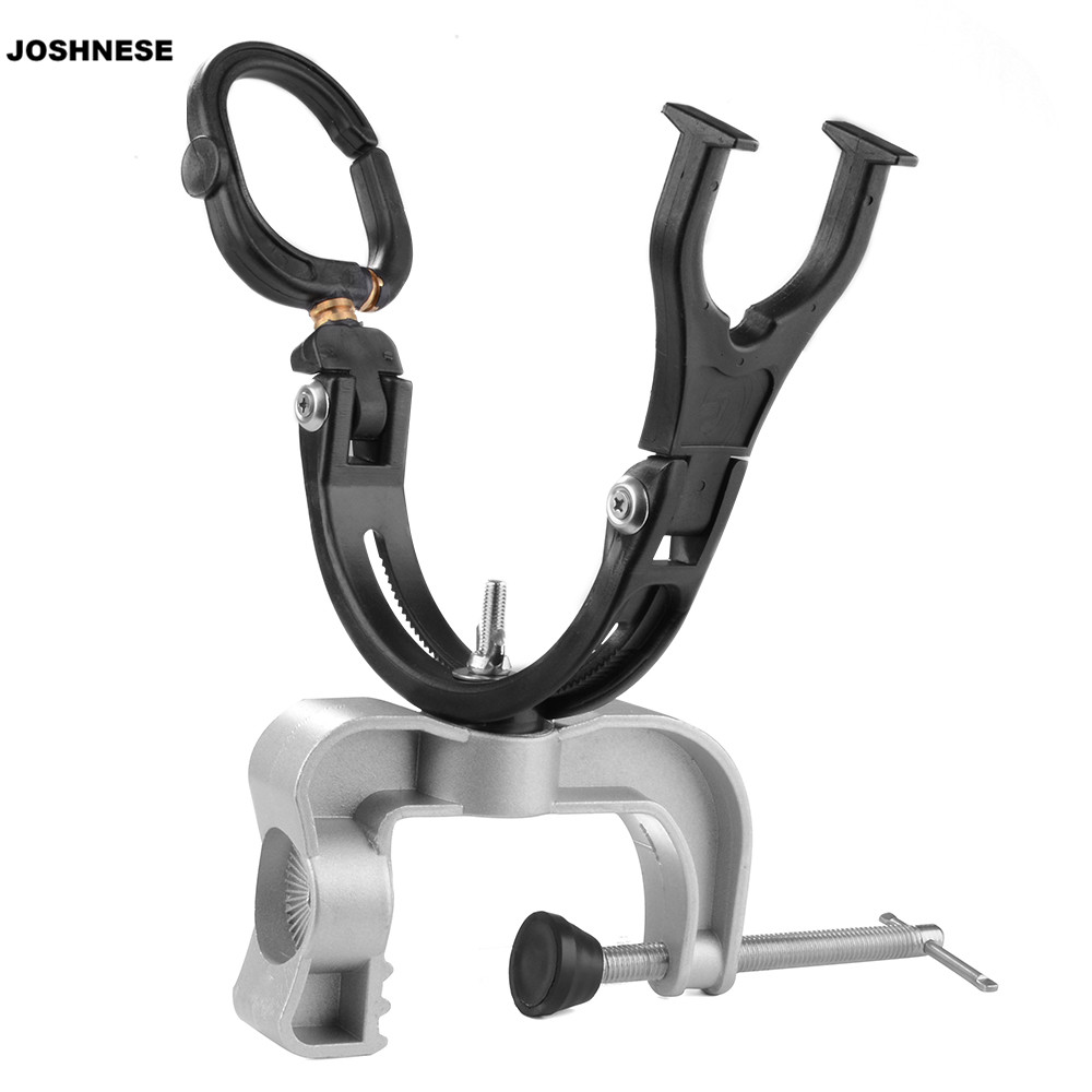 JOSHNESE Boat Marine aluminium alloy Fishing Rod Pole Stand Bracket Support Holder Adjustable Clamp Fishing Tackle Tool new practical adjustable fishing rod pole holder bracket fishing rack tool accessory support