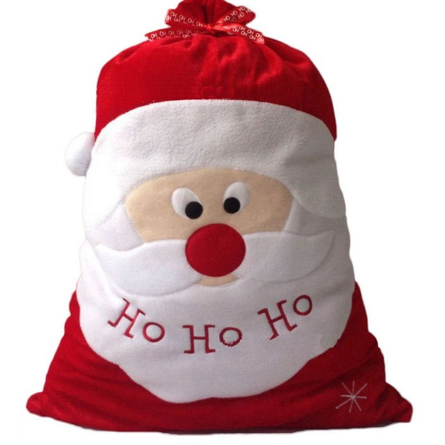 Exquisite christmas day decoration santa large sack stocking big exquisite christmas day decoration santa large sack stocking big gift bags ho ho christmas santa claus negle Gallery