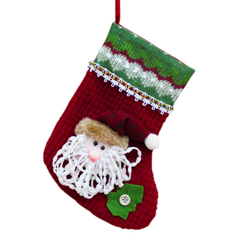 Festive & Party Supplies Stockings & Gift Holders Trend Mark Home Decoration Accessories Plaid Christmas Gift Bags Pet Dog Cat Paw Stocking Socks Xmas Tree Ornaments Drop Shopping