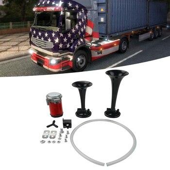 NICECNC 178dB 12 V Super głośny podwójny róg powietrza trąbka zestaw sprężarek samochodów ciężarówka łódź data data powrotu (dla Truck SUV jacht pojazd terenowy itp
