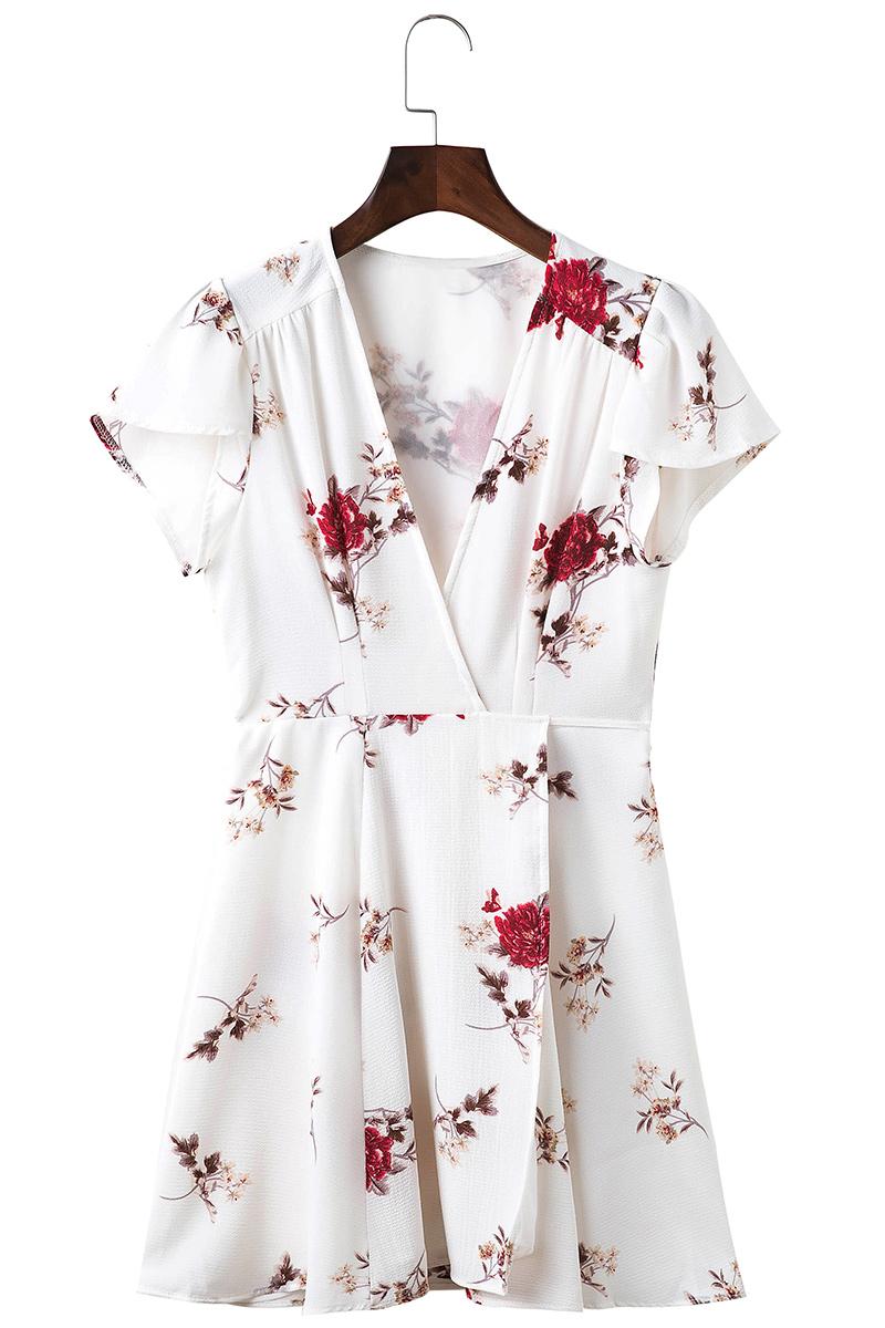 d146ad224aa4 Mini Dress Boho Beach Vintage Floral Print Casual – Gypsy Girls