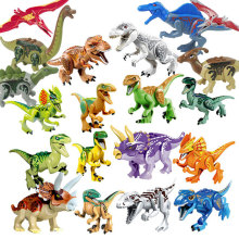 Jurassic Dinosaurs World Park Animals Model Figures Building Blocks Kids Toys Juguetes Compatible small particles gifts