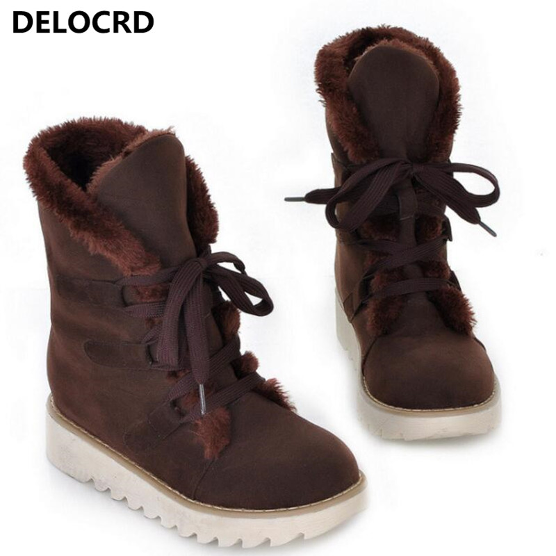 Women's Snow Boots Thick Wool Warm With Cotton Shoes Plus Size Women's Boots Ladies Fashion Casual Shoes winter Casual Sneaker 73