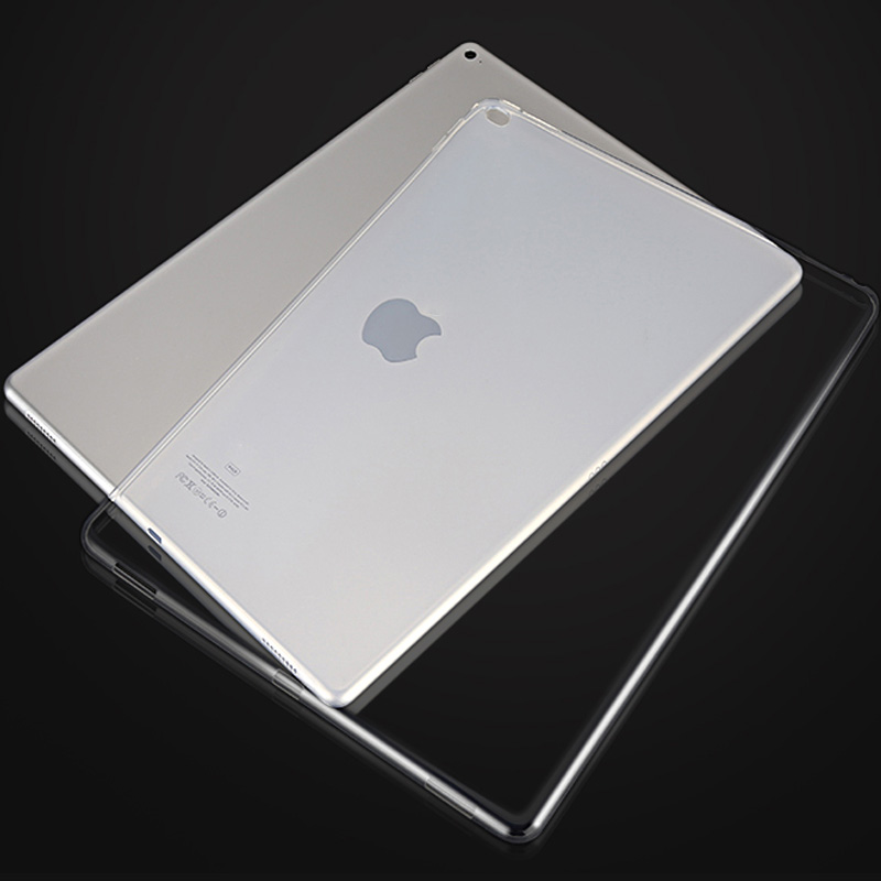 For Apple iPad pro TPU Soft Case Crystal Clear Transparent Soft Silicone Back Phone Cover for ipad pro 12.9 inch Tablet Case case for ipad air 2 pocaton for tablet apple ipad air 2 case slim crystal clear tpu silicone protective back cover soft shell